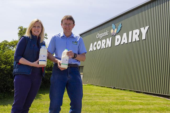 Acorn Dairy directors Caroline Bell and Graham Tweddle have seen a large increase in doorstep delivers