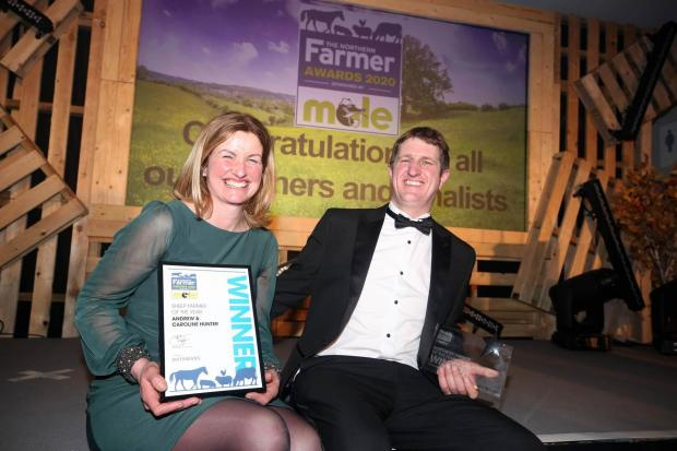 The Northern Farmer: Andrew and Caroline Hunter with their award
