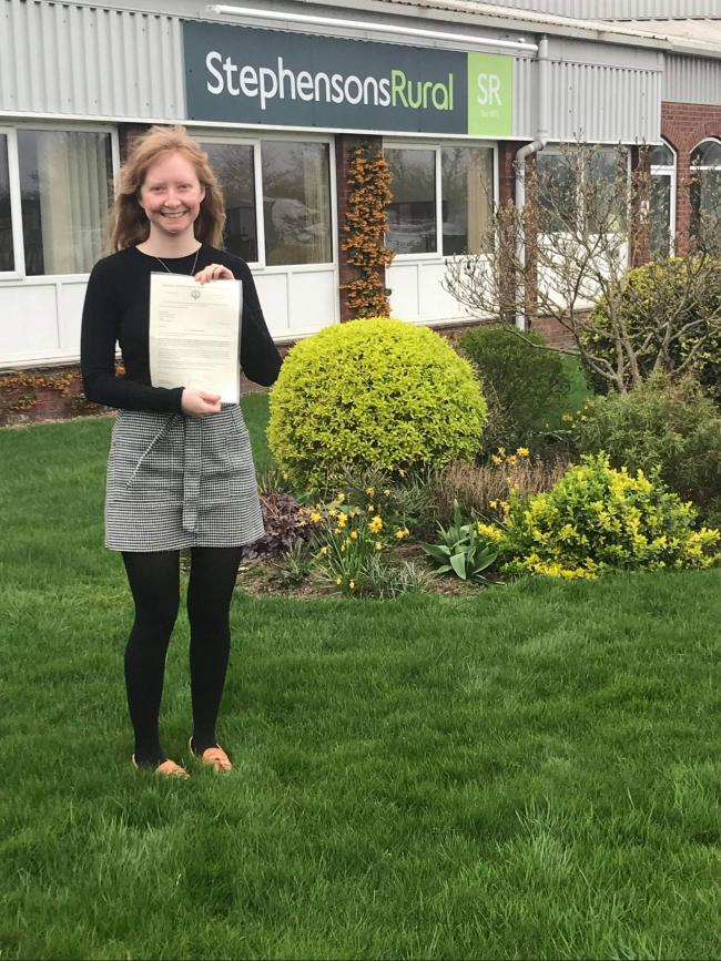 Chloe Hayes of York, who scored top marks in the CAAV's exam
